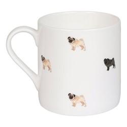 Pug Life! Large mug, 425ml, multi