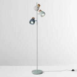 Albert Floor lamp, 163 x 30cm, duck egg, muted grey & dusk blue