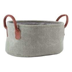 York Storage basket, 36 x 26 x 17cm, sage green