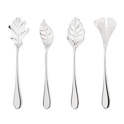 Mulberry - Leaf 4 piece spoon set, mirror finish
