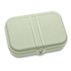 Pascal Large lunch box with separator, H6.2 x W16.6 x L23.2cm, organic green