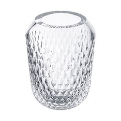 Folia Large vase, clear crystal
