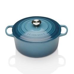Signature Cast Iron Round casserole, 20cm - 2.4 litre, marine