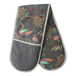 Swans - Repeat Double oven glove, 18 x 88cm, brown