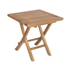 Coffee Folding coffee table, H50 x W50 x L50cm, teak