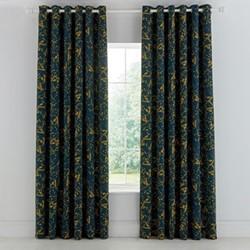 Goosegrass Curtains, 168 x 183cm, blue