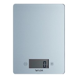 Glass digital scale, L23 x W17cm, pewter