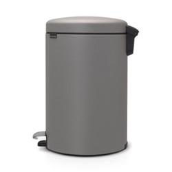 New Icon Pedal bin, 20 litre, mineral concrete grey