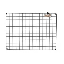 Farringdon Wire memo board, H75 x D1 x W55cm, grey