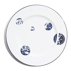 Details From Willow Coupe plate, D34cm, cobalt