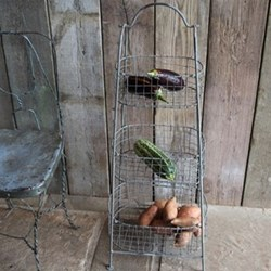 Beri Vegetable rack, H99 x L44 x W31cm, distressed grey