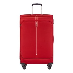 Popsoda Spinner expandable suitcase, 78 x 48 x 31/34cm, red