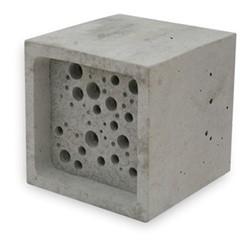 Bee Block Large bee house, 10.5 x 10.5 x 10.5cm, concrete