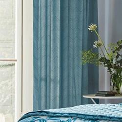 Palm House Lined curtains, 168 x 183cm, indigo