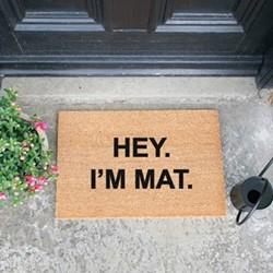 Hey Im Mat Doormat, L60 x W40 x H1.5cm