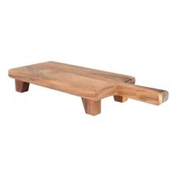 Baroque Paddle board with feet, W17 x L43cm, acacia