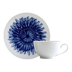 In Bloom Teacup and Saucer, 13cl, blue