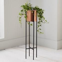 Small plant holder, L12.6 x W12.6 x D71cm, black