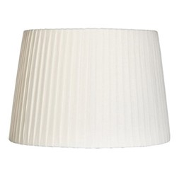 Pleated Lampshade, D35 x H24cm, white