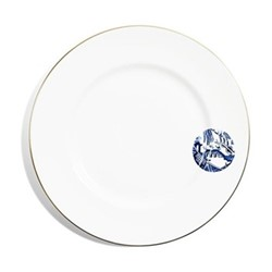 Details From Willow Dinner plate rimmed, 27cm, gold