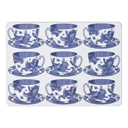 Teacup Set of 4 placemats, 29 x 21cm, white/delft blue