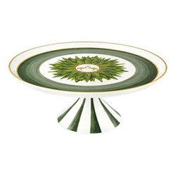 Amazonia Large cake stand, D26 x H12cm, green