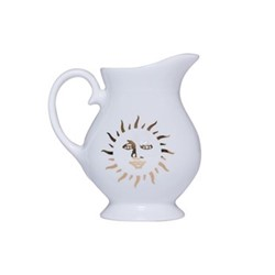 Sun Milk jug, H8.8 x D8cm, white and gold