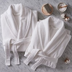 Barnes Set of couples bathrobes, white
