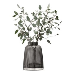 Pleat Vase, 26cm, grey