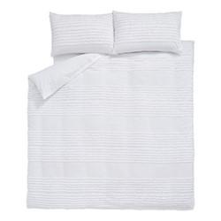 Malmo King size duvet set, 220 x 230cm, white