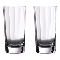 Elegance Optic Pair of gin highballs, H16cm - 45cl, clear