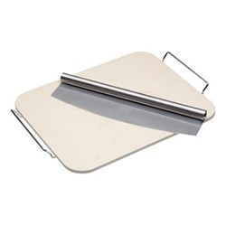 Italian Rectangular pizza stone and cutter