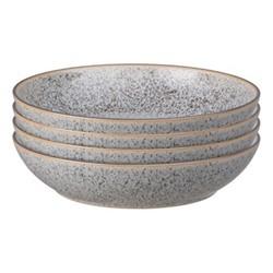 Studio Grey Set of 4 pasta bowls, 22 x 5cm, granite