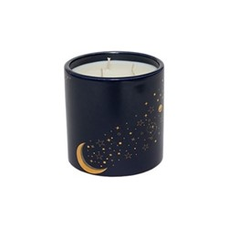 Luna Medium candle, 12 x 12cm, Navy and gold