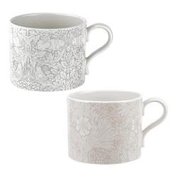 Pure Morris - Marigold & Brer Rabbit Pair of mugs, 34cl, grey/white