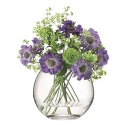 Globe Vase, W18 x H16cm, clear