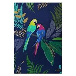 Parrot - Placement Tea towel, 44 x 65cm, blue
