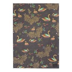 Swans - Repeat Tea towel, 44 x 65cm, brown