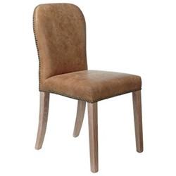 Stafford Chair, L45 x W59 x H92cm, aged tobacco leather