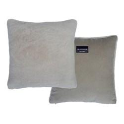 Sheepskin cushion, L40 x W40cm, taupe
