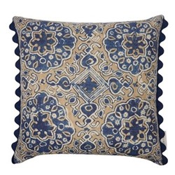 Ashcombe Cushion, L50 x W50cm, Sand blue