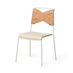 Torso Chair, 52 x 55 x 84cm, white/ash