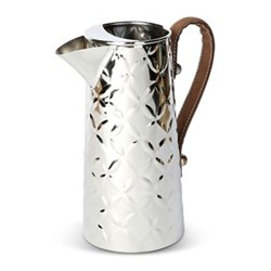 French Fleur Water jug, H25 x L21 x D12.5cm, stainless steel