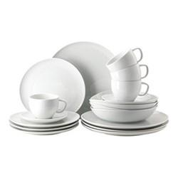 Junto 20 piece dinnerware set, white