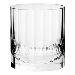 Fluted Single old fashioned tumbler, H8 x D7.6cm - 190ml, clear