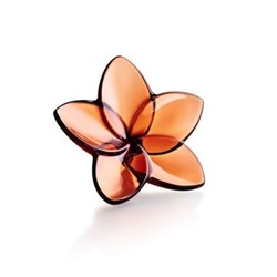Bloom Flower ornament, W4 x L9cm, mahogany