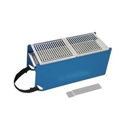 Yaki Portable barbeque, L41 x W18 x H17cm, blue