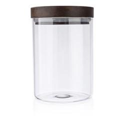 Set of 4 storage jars, 550ml, acacia wood / glass