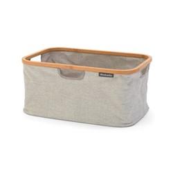 Foldable laundry basket, 40 litre, grey