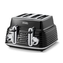 4 slice toaster, in black